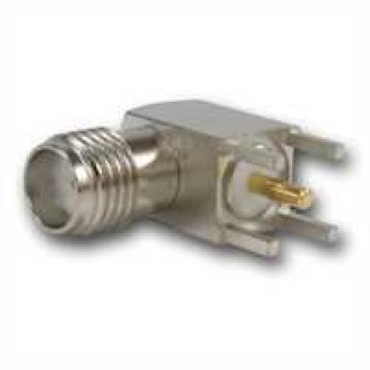 SMA Angle Receptacle, female, for Printed Circuits