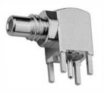 SMB SMC Angle Receptacle, male, for Printed Circuits