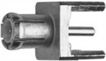 MCX Receptacle, male, for Printed Circuits