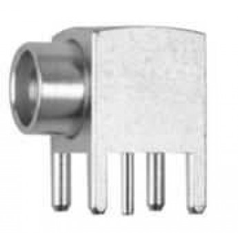 SMP Angle Receptacle, Male, for PCB